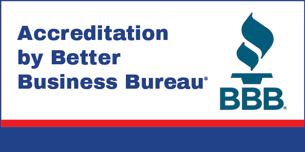 Accreditation by Better Business Bureau Badge